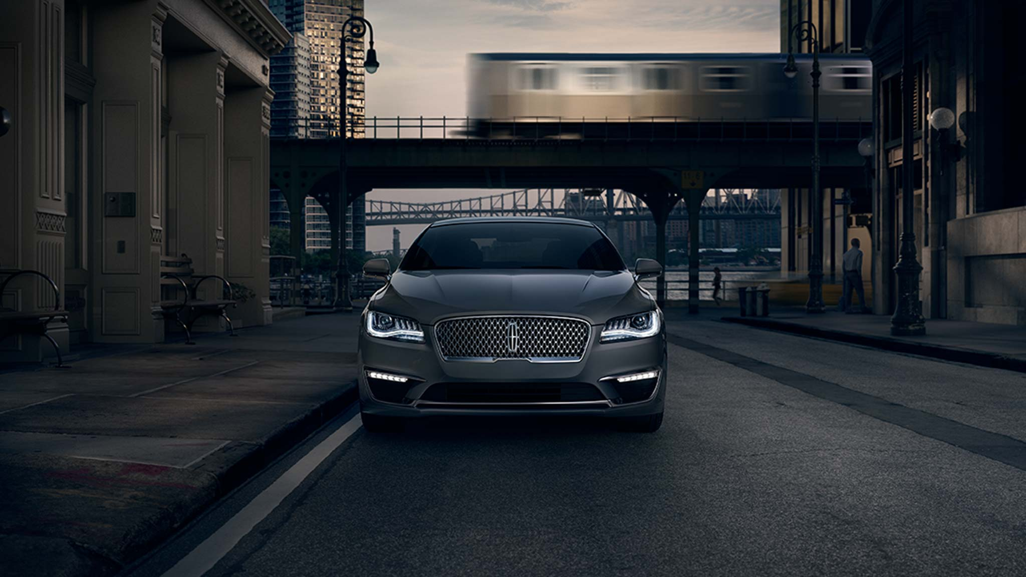 2017 Lincoln MKZ Front Exterior Silver