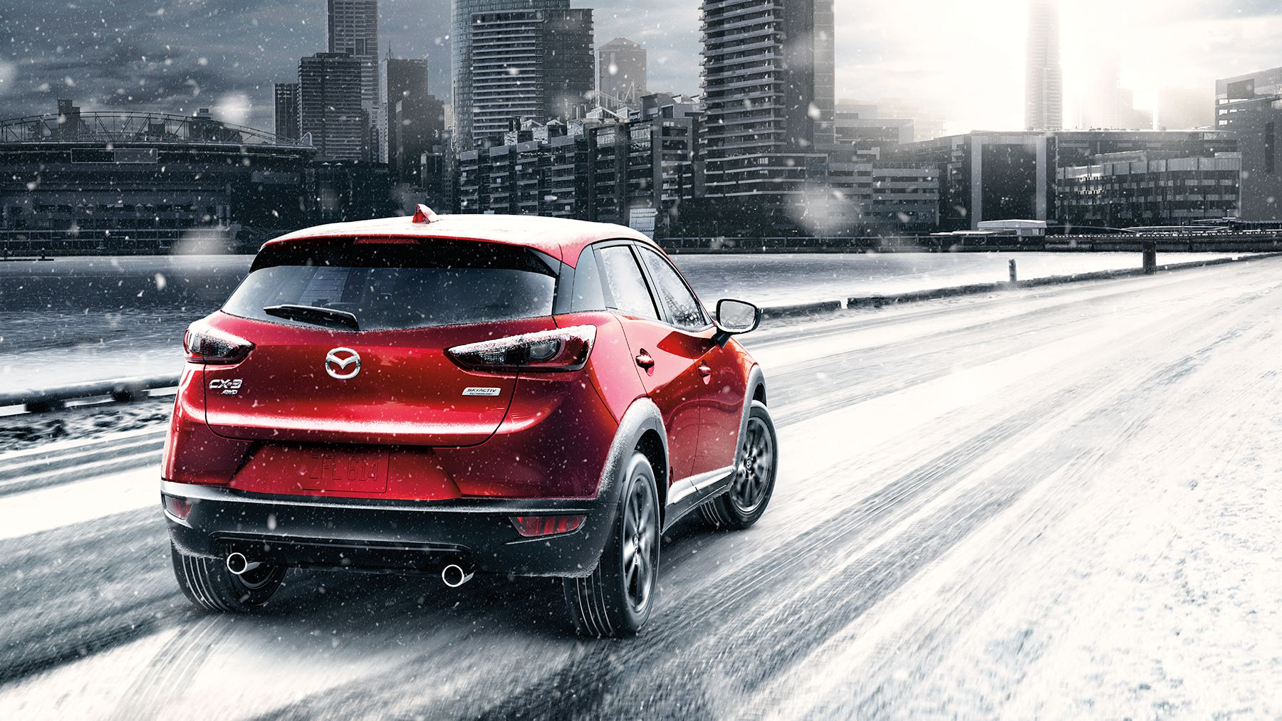 2017 Mazda CX-3 Rear Exterior Red
