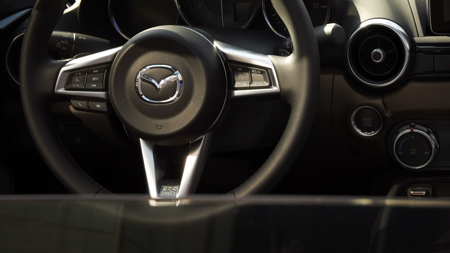 2017 Mazda MX-5 Miata RF Club Interior Steering Wheel