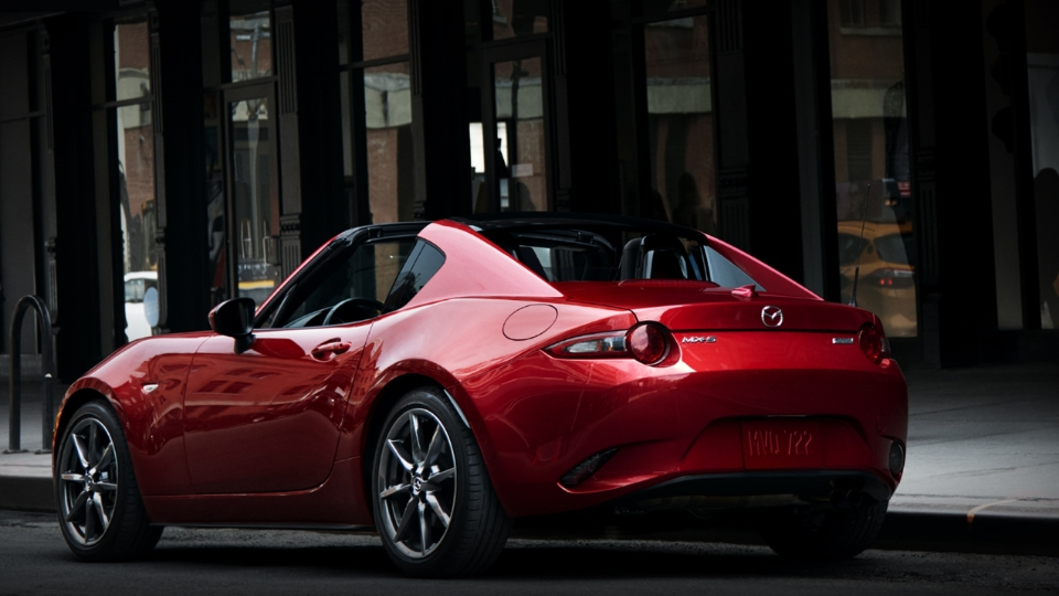 2017 Mazda MX-5 Miata RF Rear Red Exterior