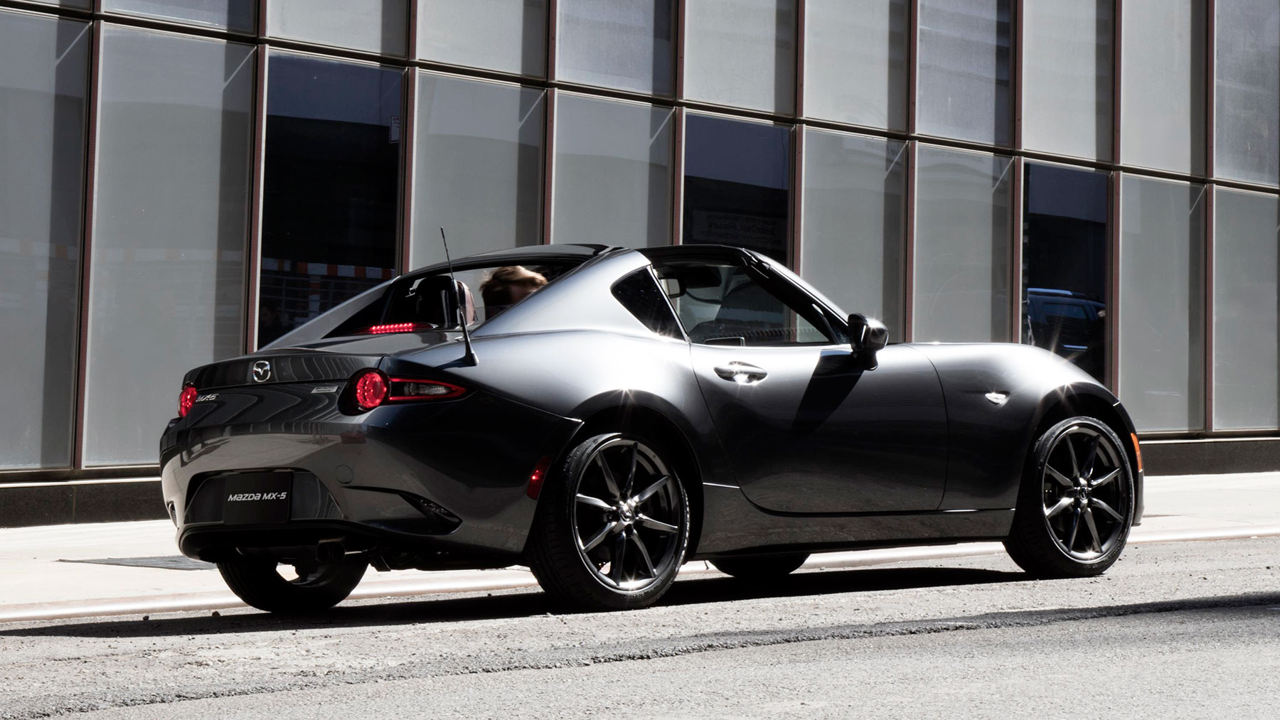 2017 Mazda MX-5 Miata Rear Dark Gray Exterior