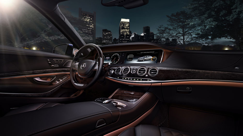 2017 Mercedes-Benz S-Class Leather Wood Trim Interior