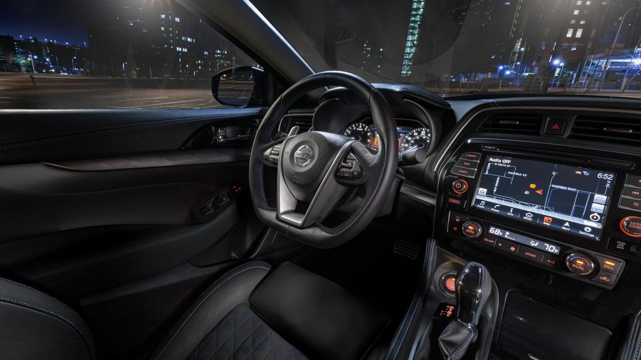 2017 Nissan Maxima Sr Midnight Edition Black Interior