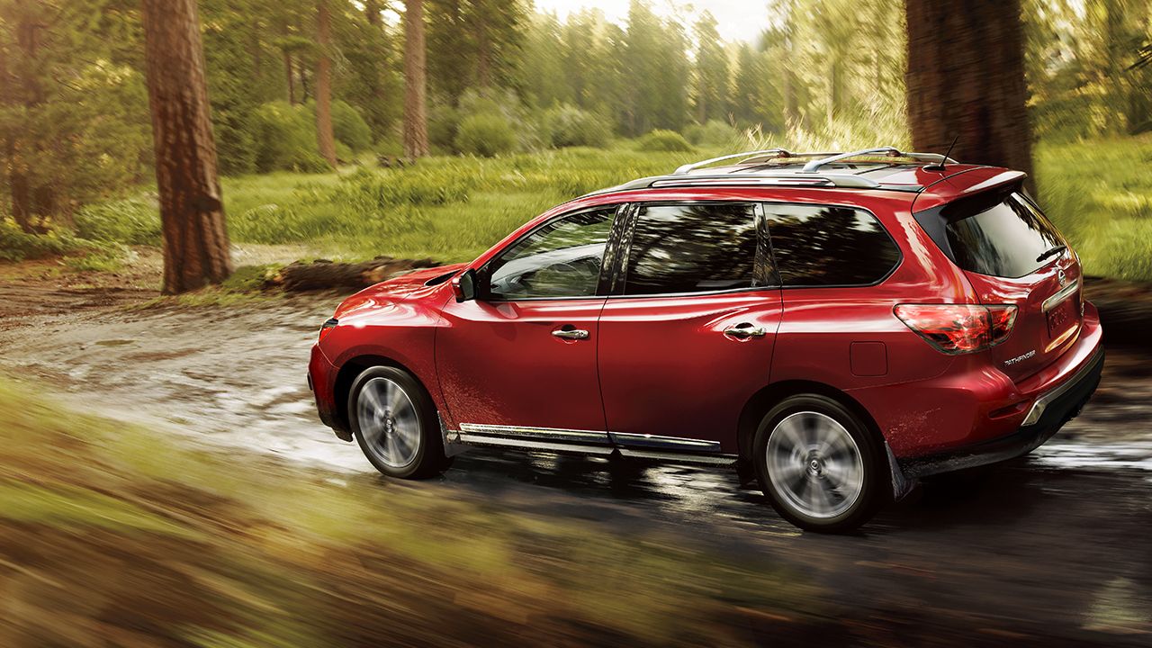 2017 Nissan Pathfinder Rear Exterior Red