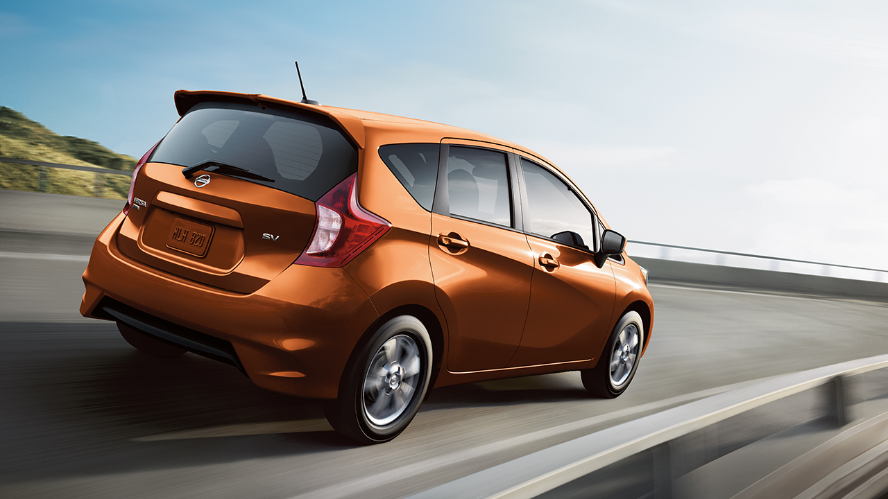 2017 Nissan Versa Note Orange Rear Exterior