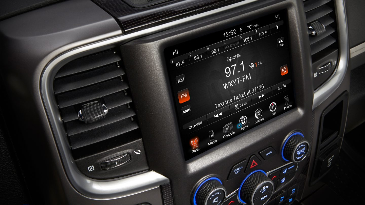 2017 Ram 1500 EcoDiesel Interior Display Detail