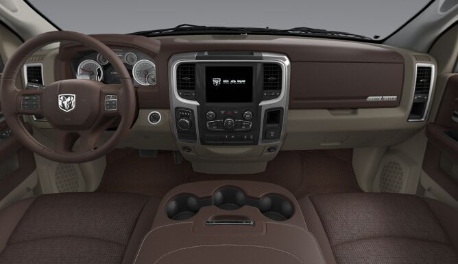 2017 Ram 1500 Lone Star Brown Interior