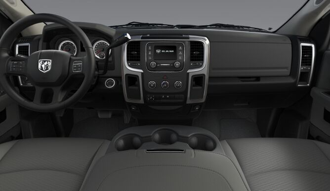 2017 Ram 3500 SLT Gray and Black Interior