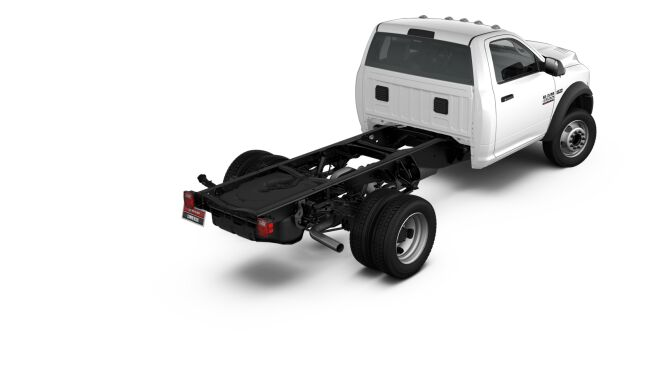 2017 Ram 4500 Chassis White Rear Exterior