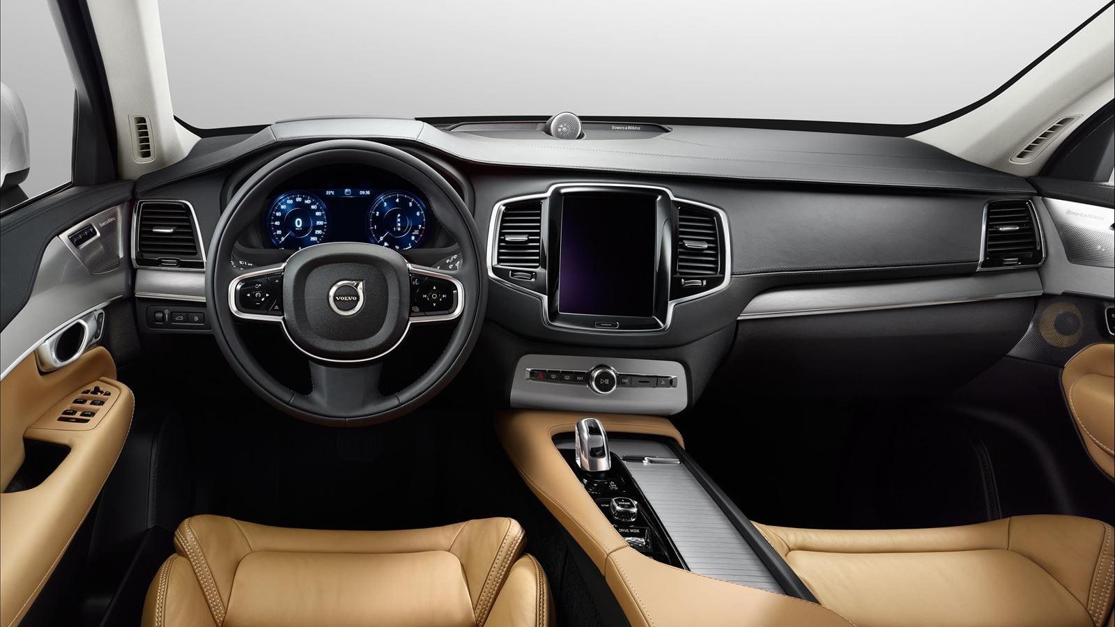 2017 Volvo Xc90 Hybrid Front Tan And Black Interior