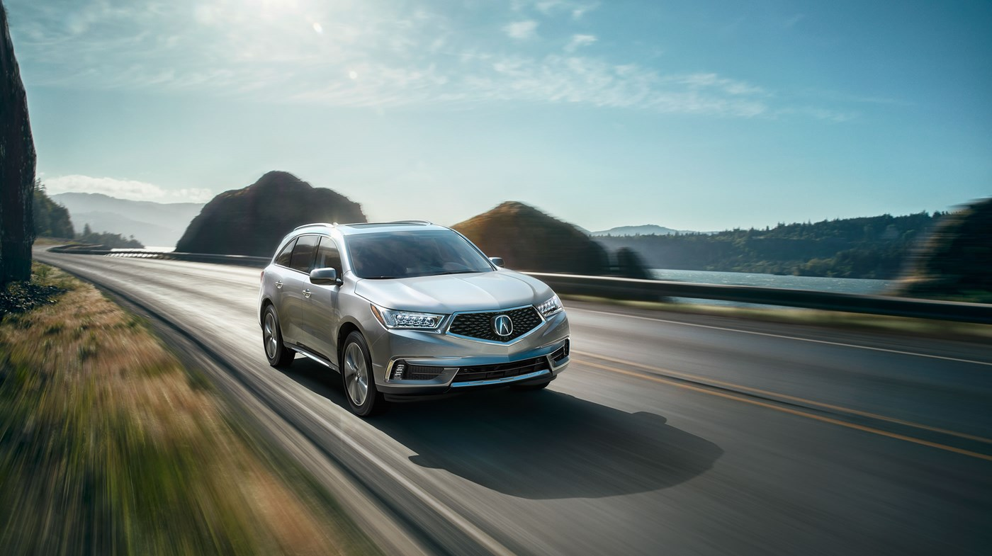 2018 Acura MDX Silver Front Exterior