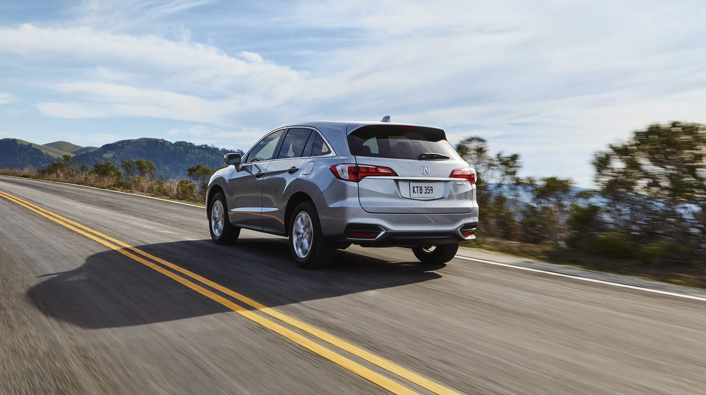 2017 Acura RDX with AcuraWatch Plus Package Silver Exterior Rear View