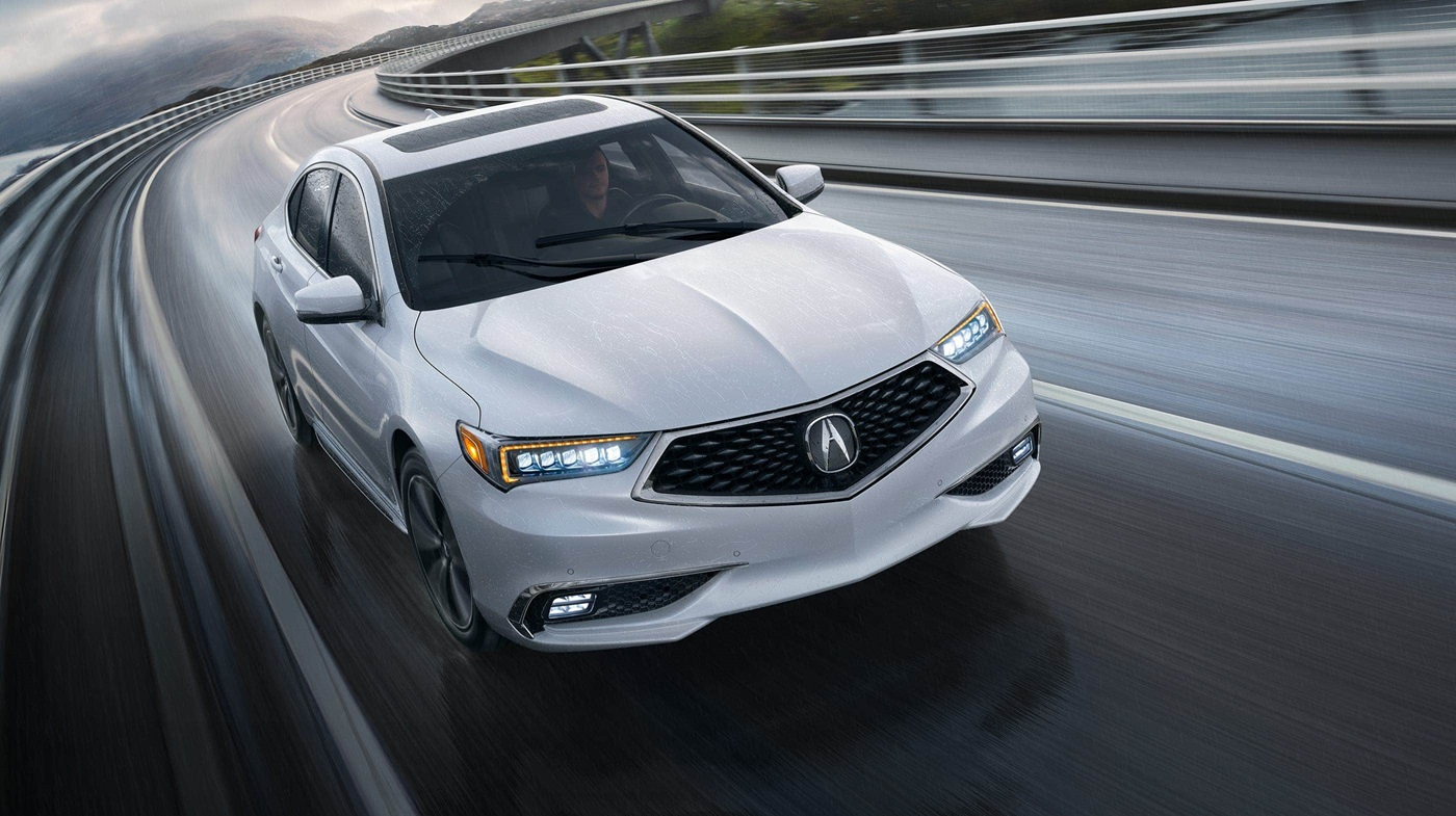 2018 Acura TLX with Advance Package White Exterior Front View