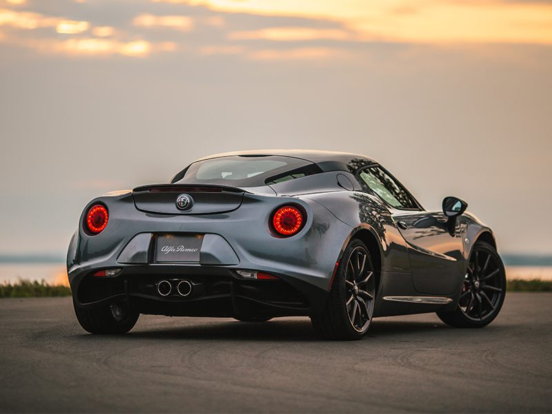 2018 Alfa Romeo 4C Coupe White Rear Exterior