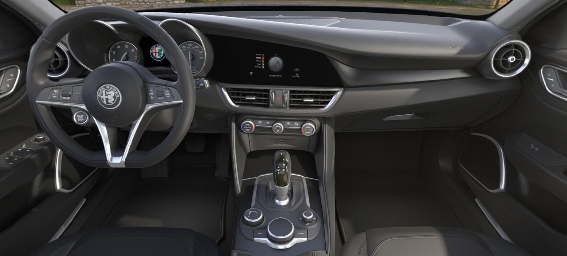 2018 Alfa Romeo Giulia Quadrifoglio RWD Dashboard Interior