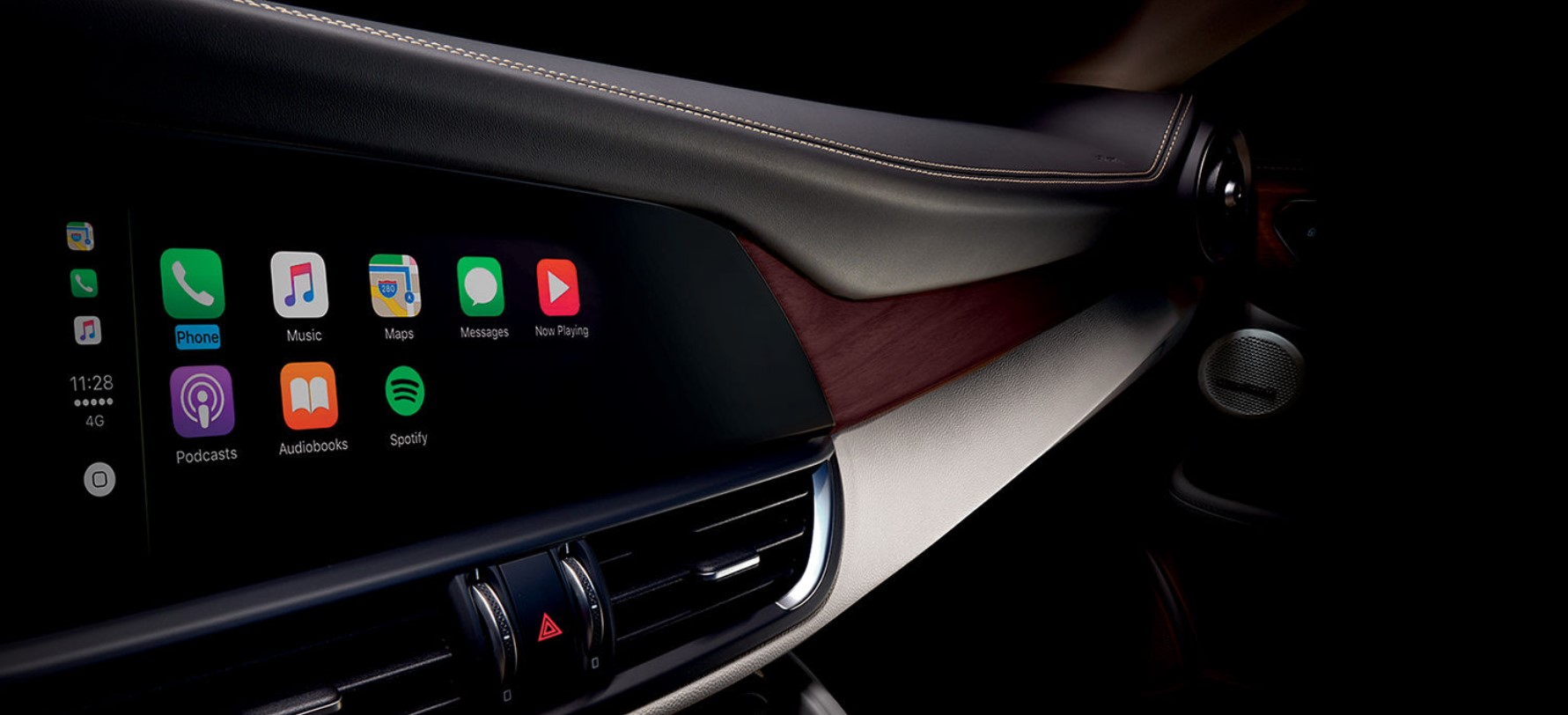 2018 Alfa Romeo Giulia Quadrifoglio Wood and Leather Black Interior