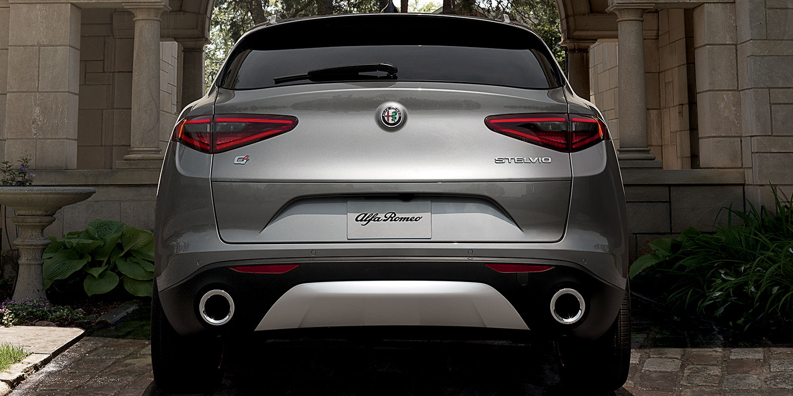 2018 Alfa Romeo Stelvio Ti Sport Of Ontario Rear End Gray Exterior