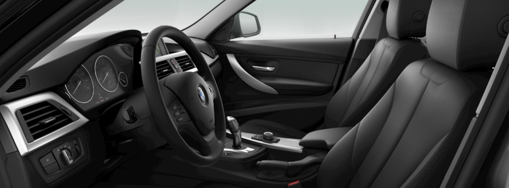 2018 BMW 3 Series 320i Black SensaTec Interior