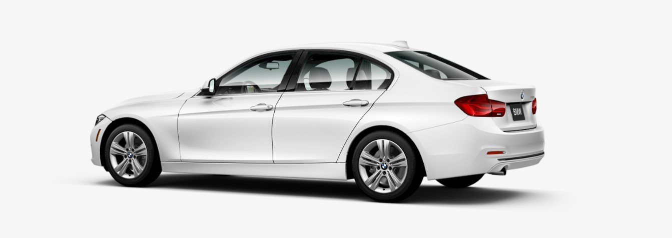 2018 BMW 328d Sedan Rear White Exterior Picture