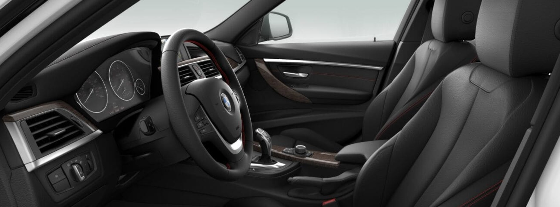 2018 BMW 330i Sedan Black Leather Interior Picture