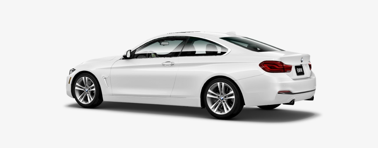 2018 BMW 4 Series 440i Rear White Exterior