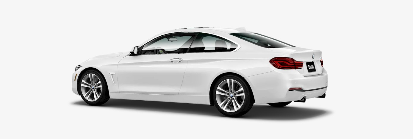 2018 BMW 440i Rear White Exterior Picture