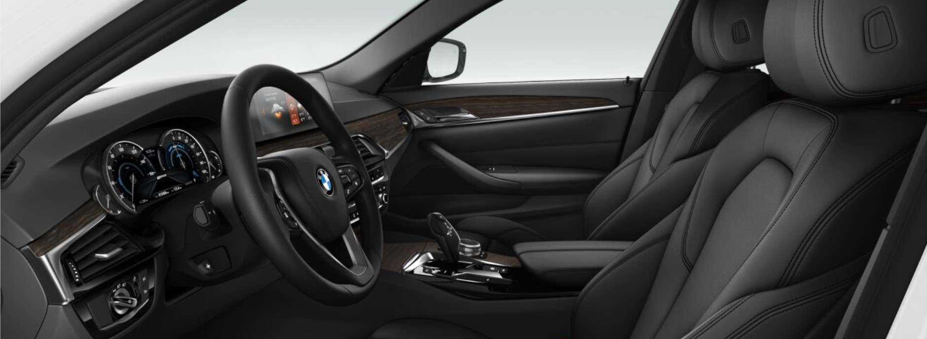 2018 BMW 530e iPerformance Black Interior