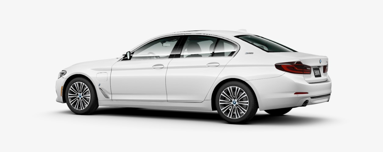 2018 BMW 530e iPerformance Rear White Exterior