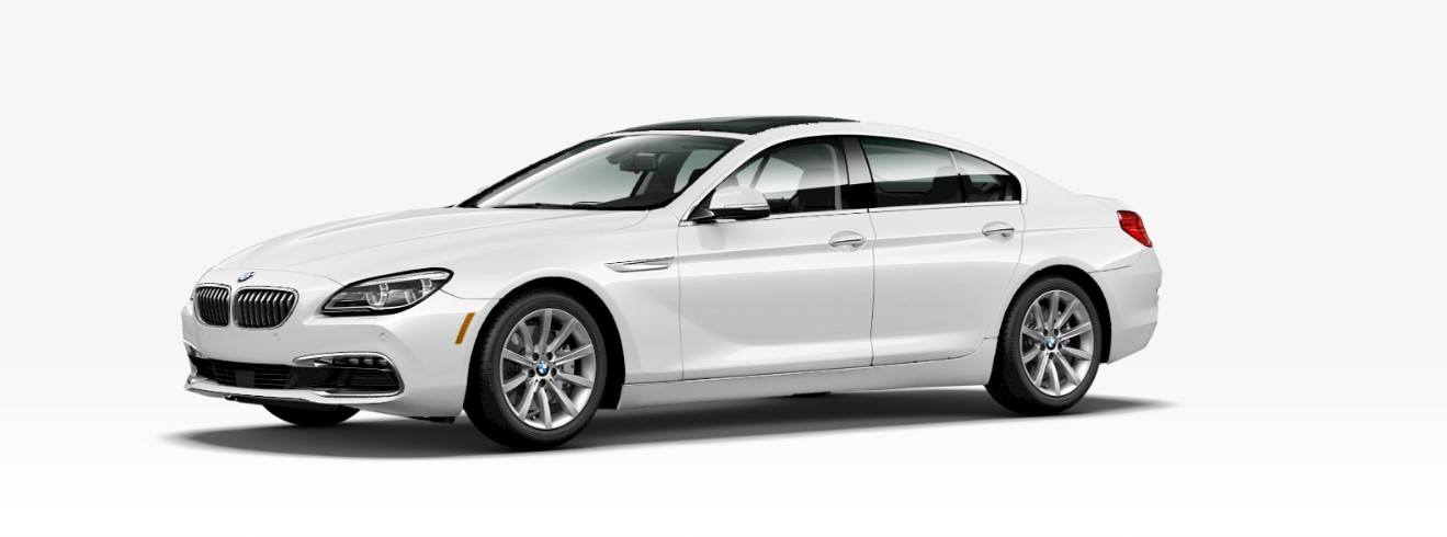2018 BMW 640i Sedan Front White Exterior Picture