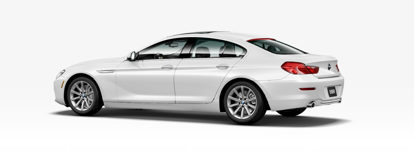 2018 BMW 640i Sedan Rear White Exterior Picture