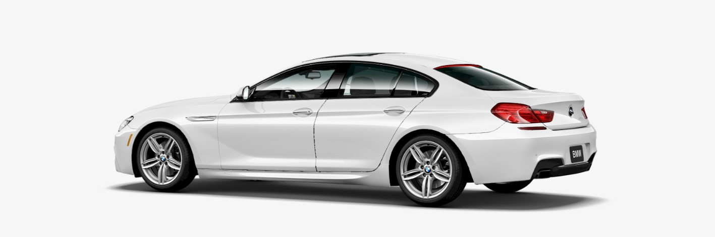 2018 BMW 650i Rear White Exterior Picture