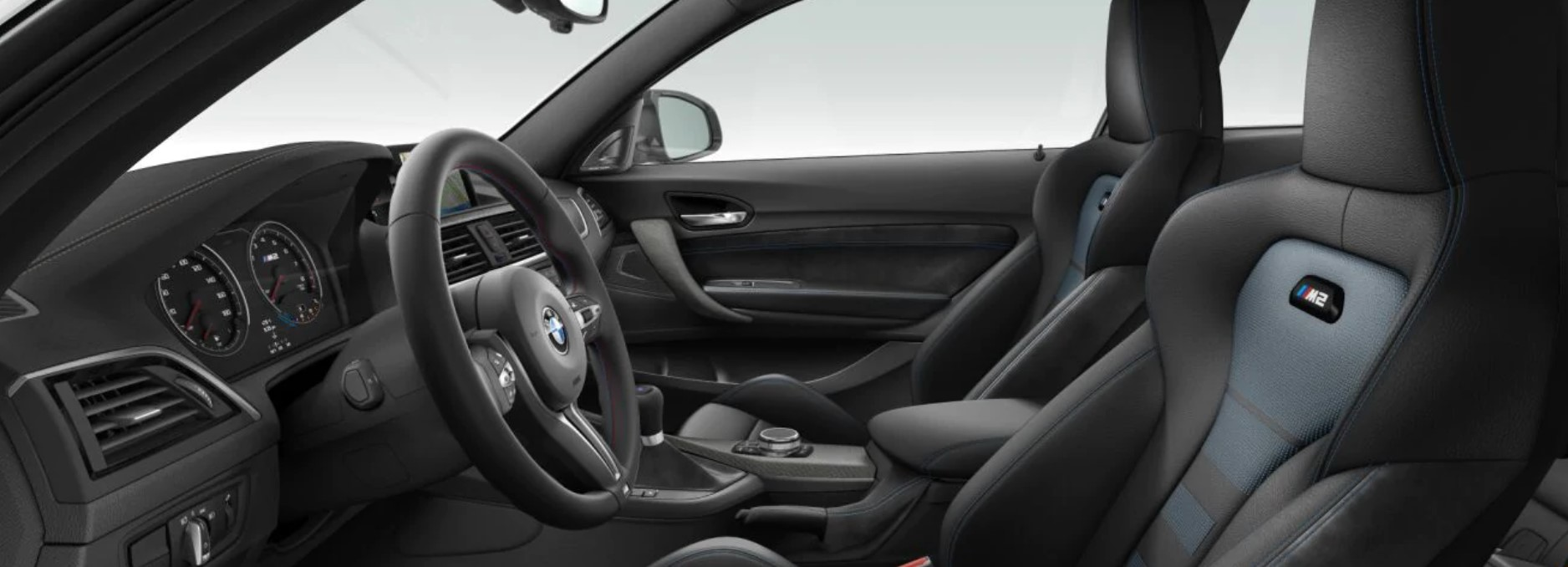 2018 BMW M2 Black Leather Interior