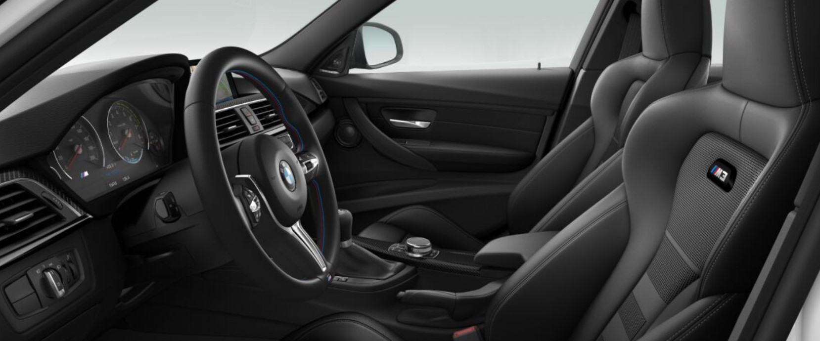 2018 BMW M3 Black Leather Interior
