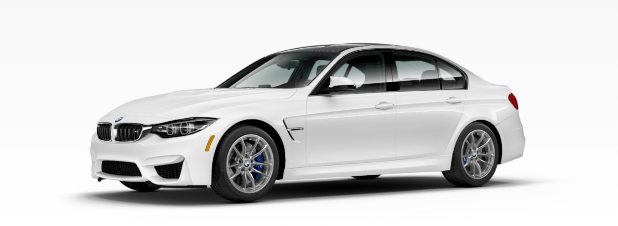 2018 BMW M3 White Front Exterior