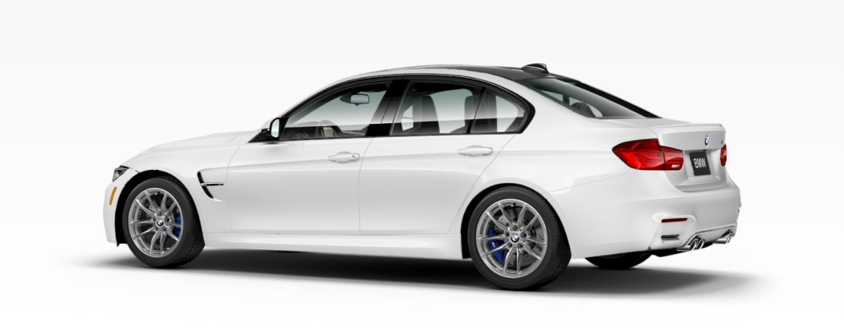 2018 BMW M3 White Rear Exterior