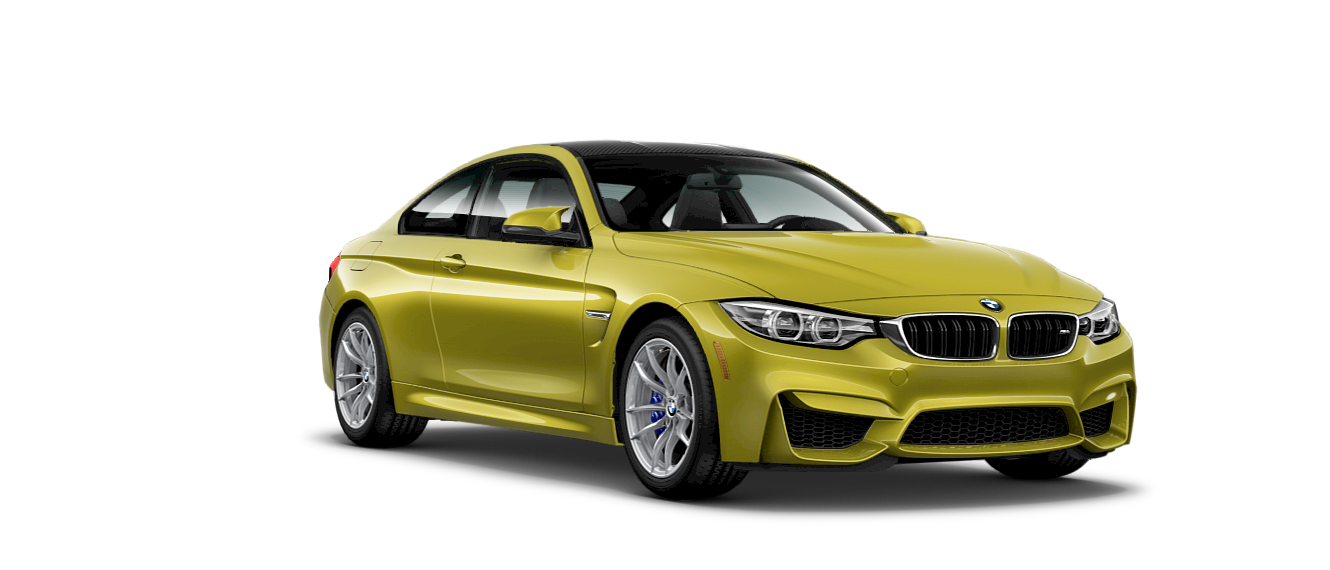 2018 BMW M4 Front Yellow Exterior