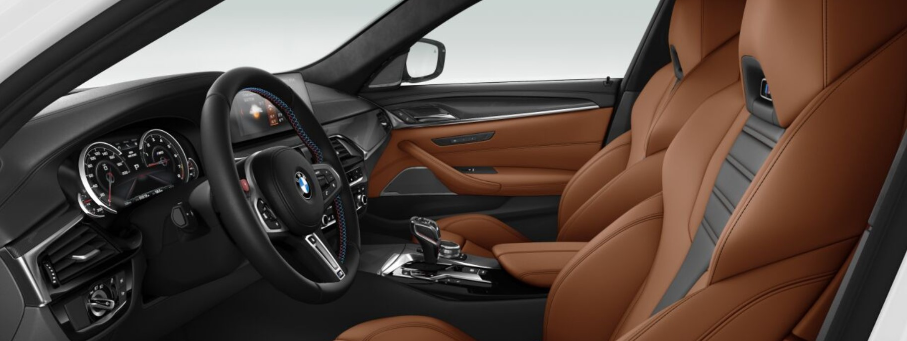 2018 BMW M5 Brown and Black Interior