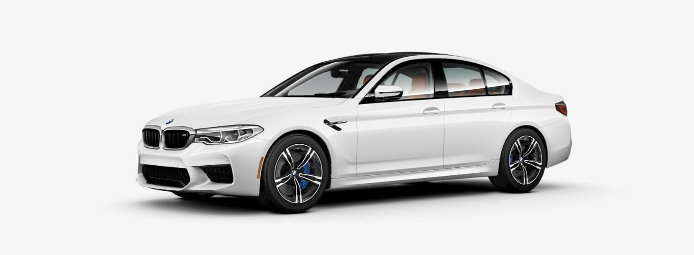 2018 BMW M5 Front White Exterior