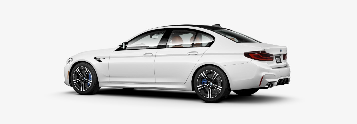 2018 BMW M5 Rear White Exterior