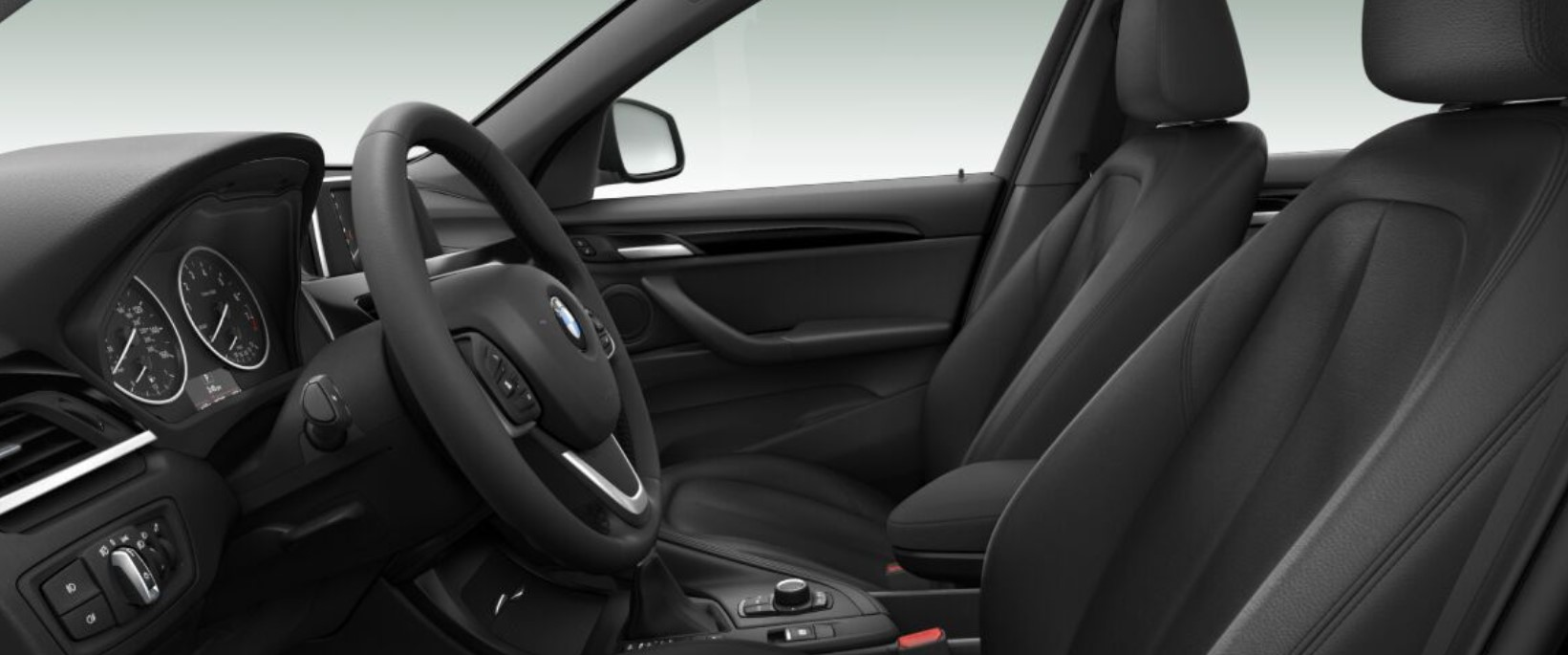 2018 BMW X1 Black Leather Interior