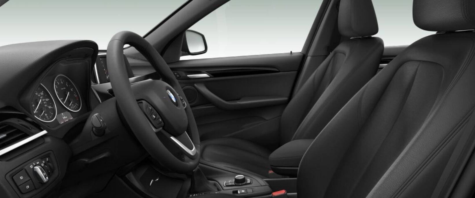 2018 BMW X1 Black Leather Interior