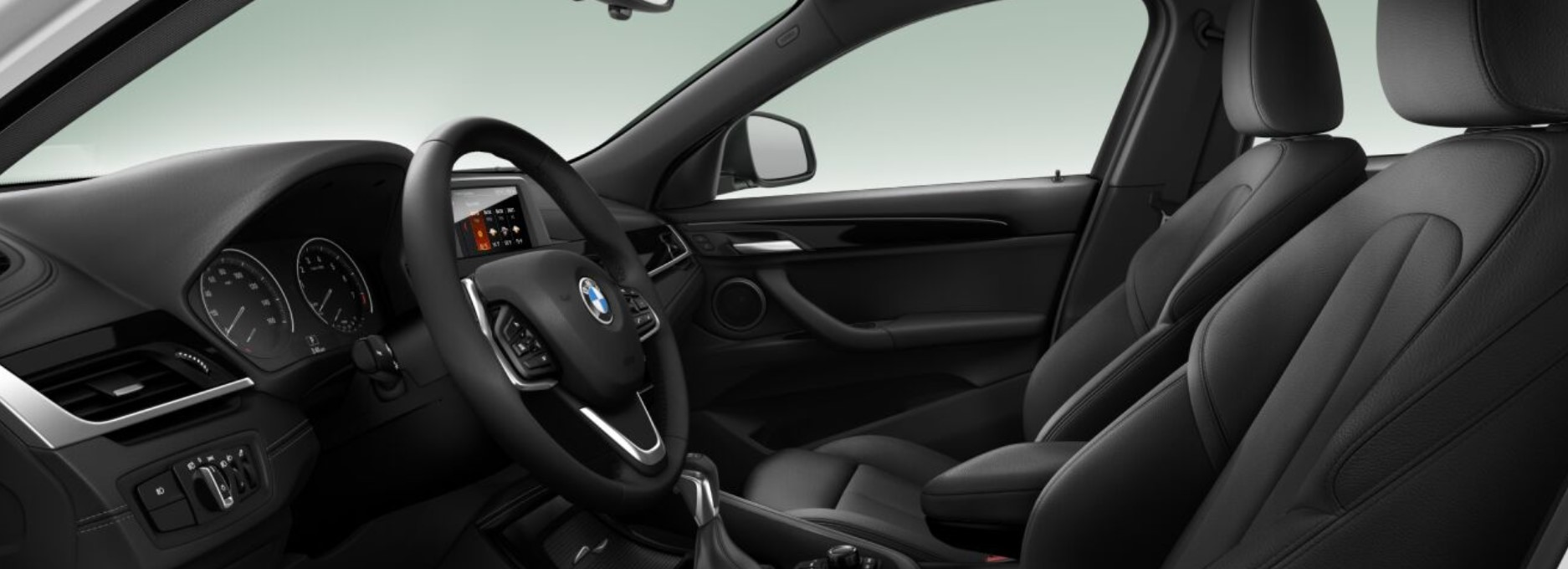 2018 BMW X2 Black Leather Interior