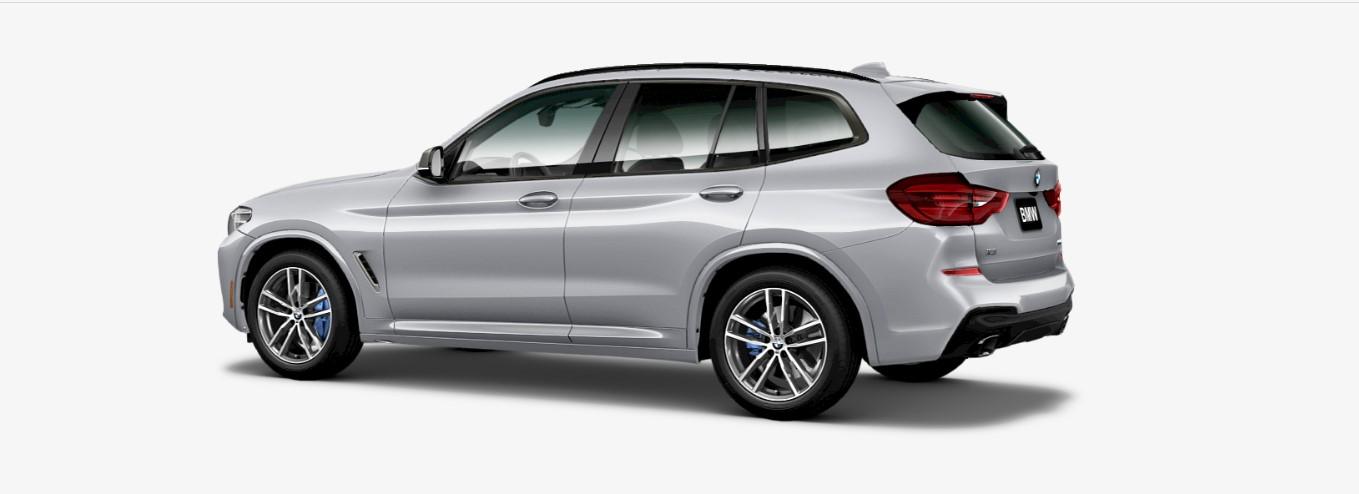 2018 BMW X3 M40i SAV Rear Silver Exterior