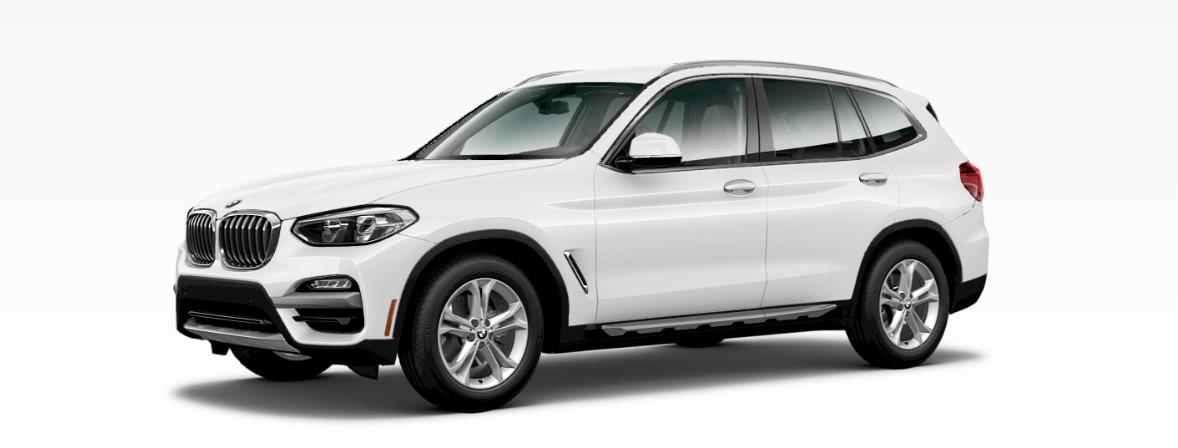 2018 BMW X3 White Front Exterior