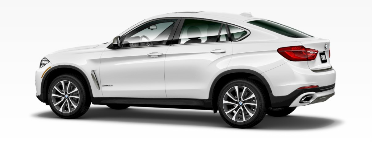 2018 BMW X6 xDrive35i Alpine White Rear Exterior