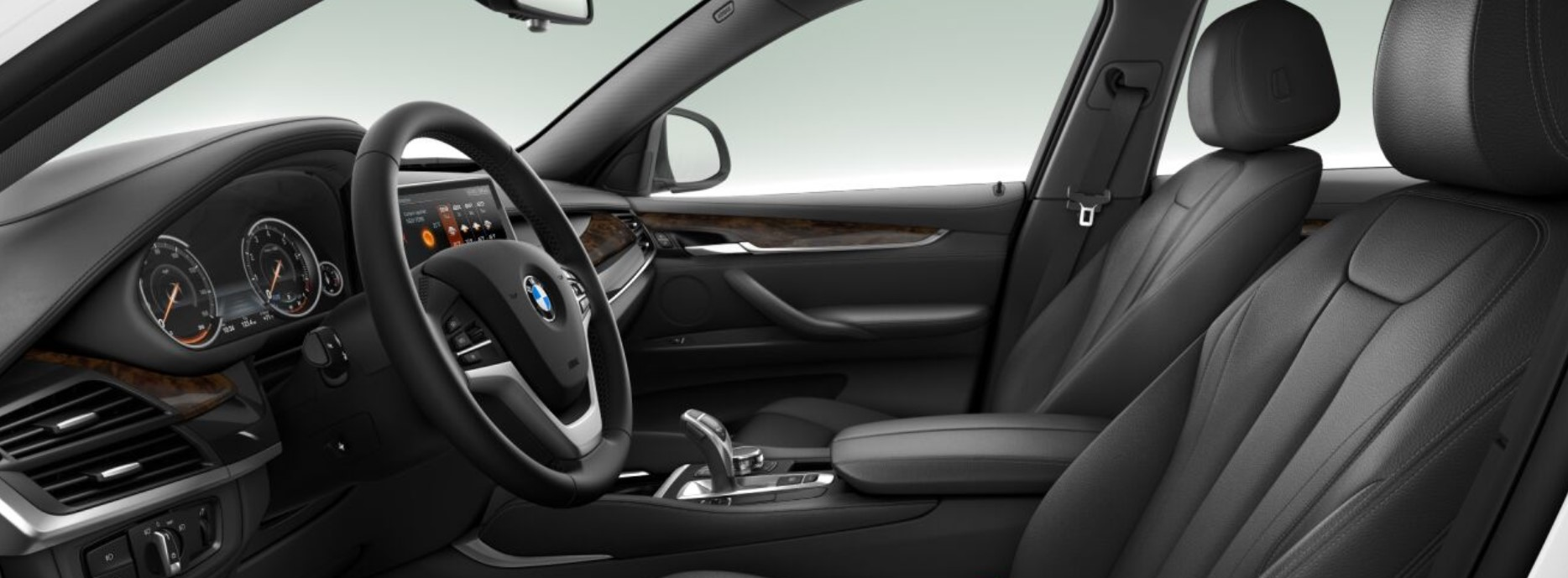2018 BMW X6 Black Leather Interior