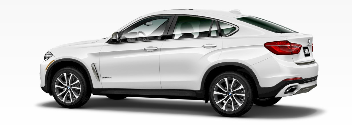 2018 BMW X6 White Rear Exterior