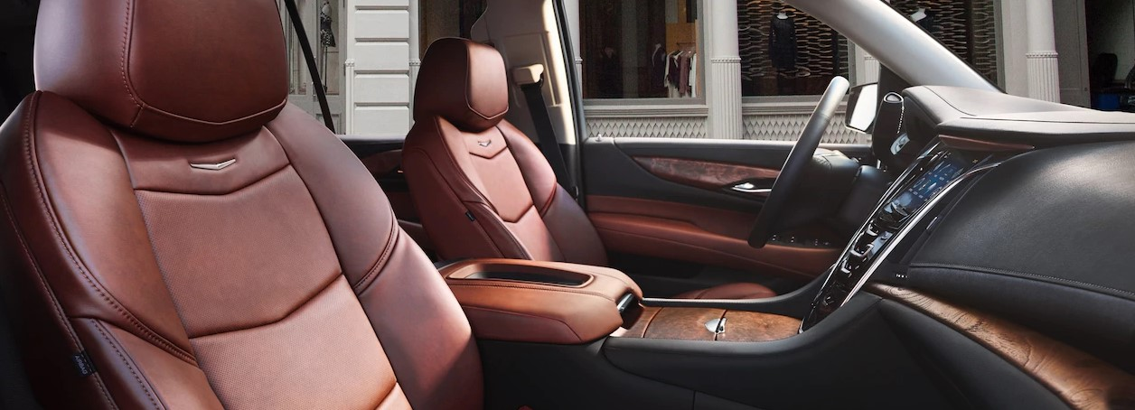 2018 Cadillac Escalade Brown Leather Interior
