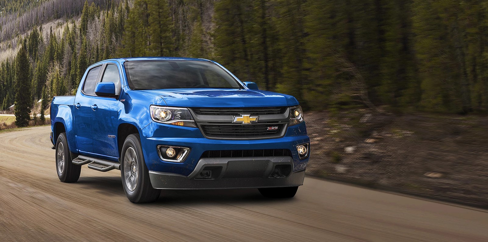 2018 Chevrolet Colorado Front Blue Exterior