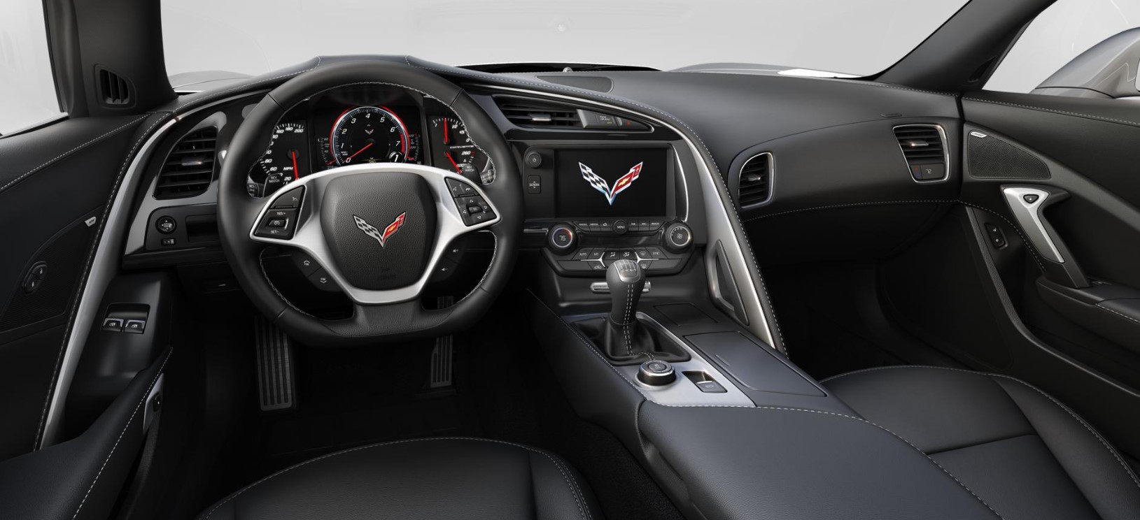 2018 Chevrolet Corvette Grand Sport Black Leather Interior